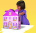 creative toys furnished doll house assemble