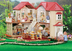 calico critters luxury townhome lights turn