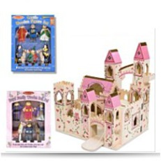 Save Deluxe Wooden Folding Princess Castle