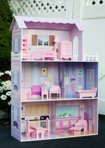 Teamson Kids Fancy Mansion Wooden Doll House With Furniture Image 1 ...