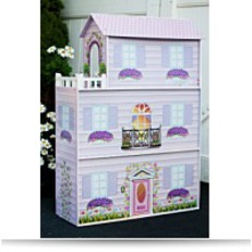 Save Kids Fancy Mansion Wooden Doll House