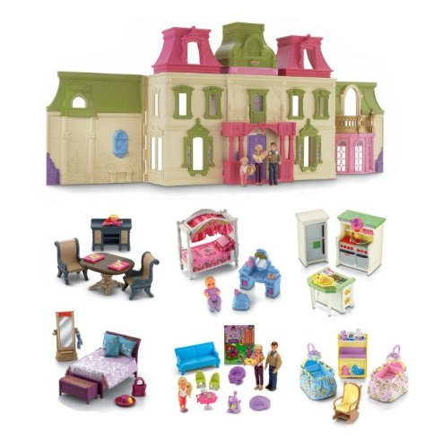 Loving Family Dream Mega Set Dollhouse ...