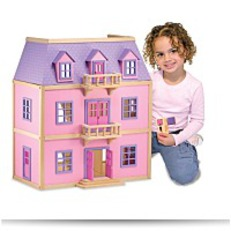 Save Melissa And Doug Multilevel Wooden Dollhouse