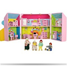 Mommy And Me Wooden Take Along Dollhouse